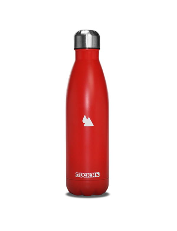 Bouteille isotherme Duck'n 500 ML rouge mat